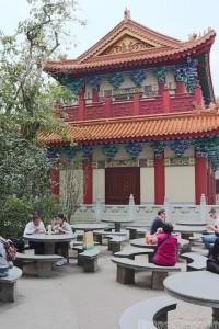 Po Lin Monastery vegetarian restaurant outdoor seating area