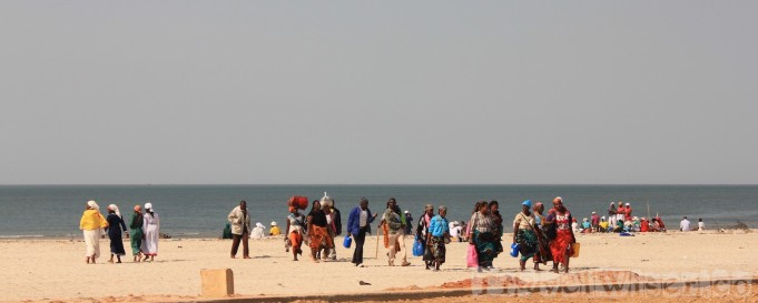 Locals on Maputo beach
