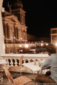 Drinks on the terrace of Hotel Casa Grande, Santiago de Cuba
