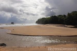 Marianne River mouth, trinidad