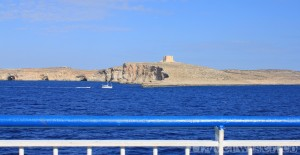Views of Comino on the ferry to Gozo