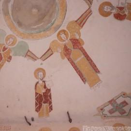 Religious paintings on the ceiling of Daniel Korkor