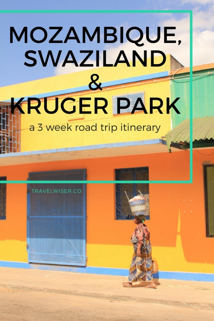 Mozambique, Swaziland and Kruger Park 3 week road trip Pinterest pin