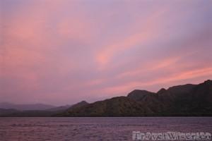 Pink skies over Komodo National Park
