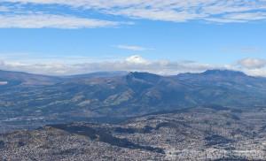 TeleferiQo view over Quito from Loma Cruz