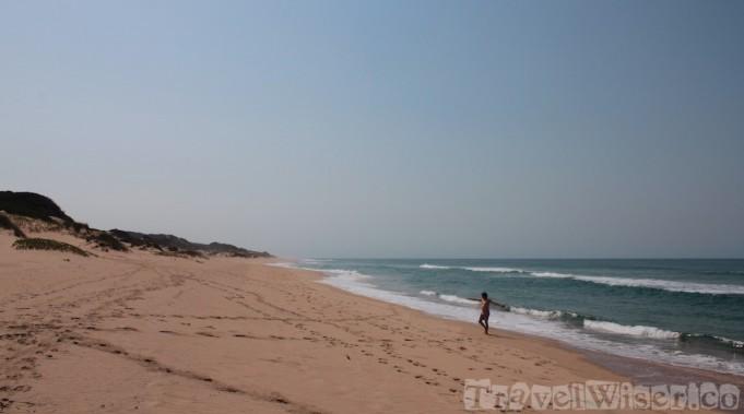 Our practically private beach at Dunes de Dovela