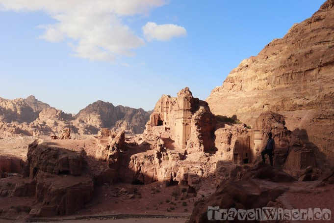 East Cliff royal tombs, Petra Jordan