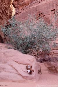 Bedouin man taking a break in Wadi Rum