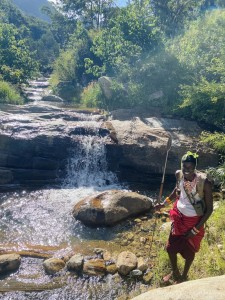 Hiking with our Samburu guide, Kitich Forest Camp