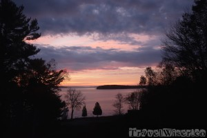 Sunset view from The Birches B&B, Southwest Harbor