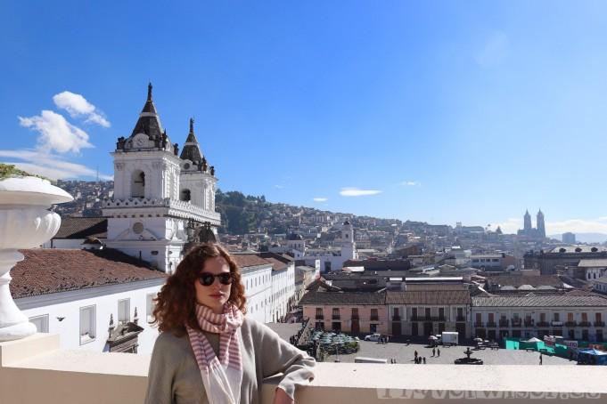Casa Gangotena view over Plaza San Francisco Quito