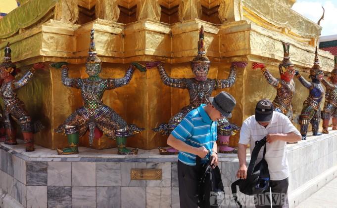 Hanuman chedi, Wat Phra Kaew Bangkok