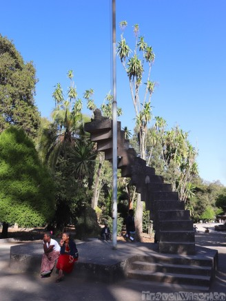 Stairs monument at Ethnological Museum Addis Ababa