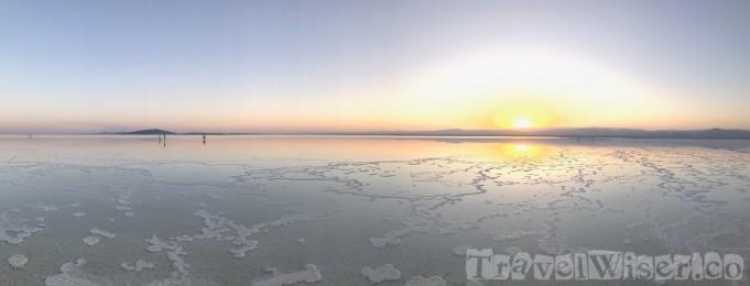 Asale salt lake panorama