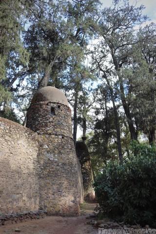 Stone wall of Debre Birhan Selassie in Gondar