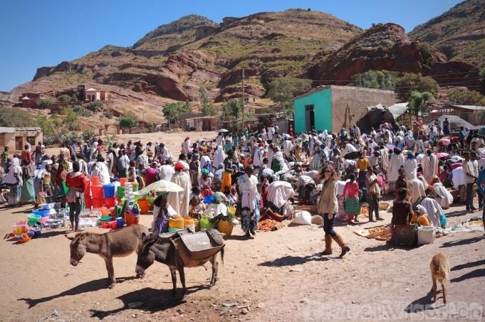 Outdoor market in Tigray Ethiopia