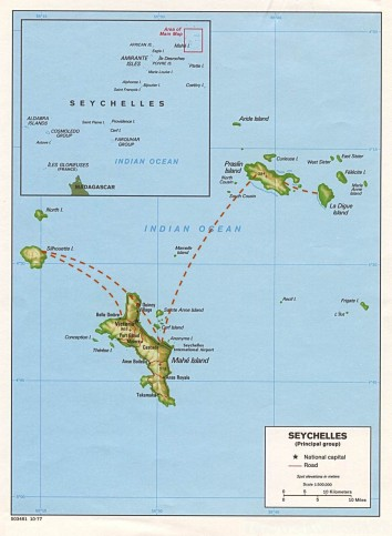 Seychelles island-hopping map