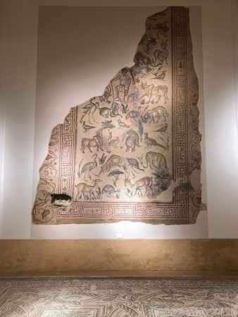 War-damaged Roman mosaic in the Beirut National Museum