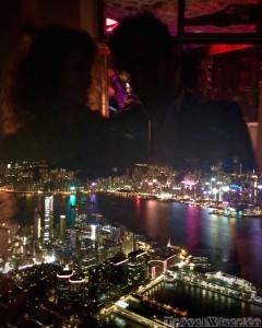 Bird's-eye view over Hong Kong from Ozone Bar