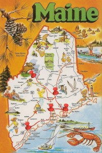 Maine road trip itinerary map