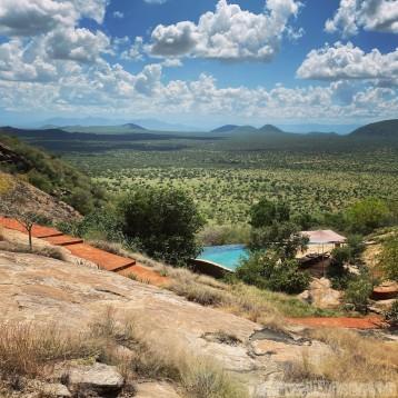 Saruni Samburu pool with a view