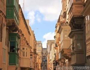 Valletta's traditional balconies