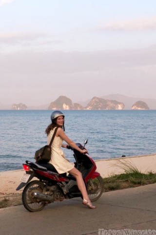 Exploring Koh Yao Noi by scooter