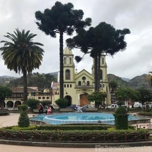 Plaza in Gualaceo Ecuador