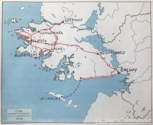 County Galway road trip map