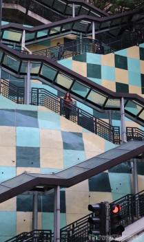 Hong Kong outdoor escalator