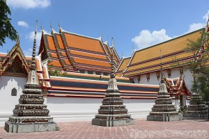 Wat Pho temple grounds Bangkok