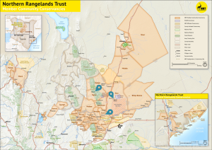 Northern Rangelands Trust map Northern Kenya