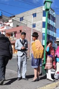 Indigenous Ecuadorians dressed up