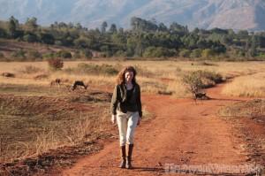 Walking with antelopes in Mlilwane Wildlife Reserve Swaziland