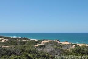 View from Dunes de Dovela's restaurant