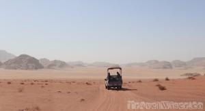 Driving in Wadi Rum, Jordan road trip