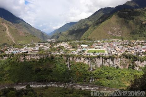 Baños and the Rio Pastaza, Ecuador