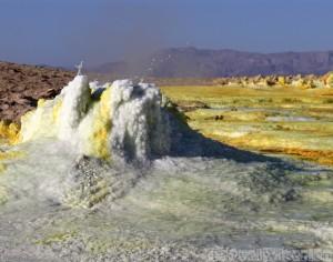 Hot spring spouting brine, Dallol Danakil Depression