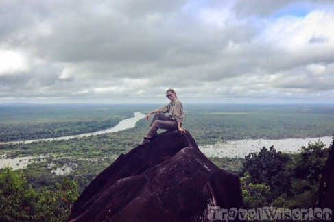 On top of Awarmie Mountain, Guyana rainforest