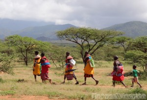 Samburu women on the way to market