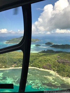Helicopter flight over Silhouette Island, Seychelles