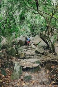 Hiking to Petite Anse, La Digue Island Seychelles