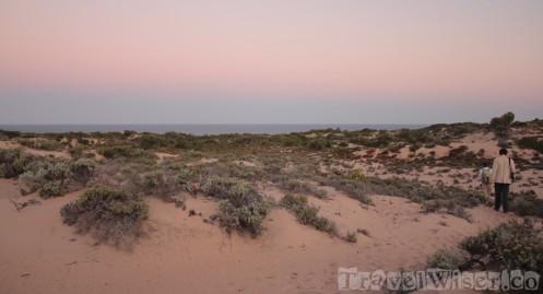 Sunset walk at Dunes de Dovela, Mozambique