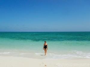Deserted beach near Guardalavaca Cuba
