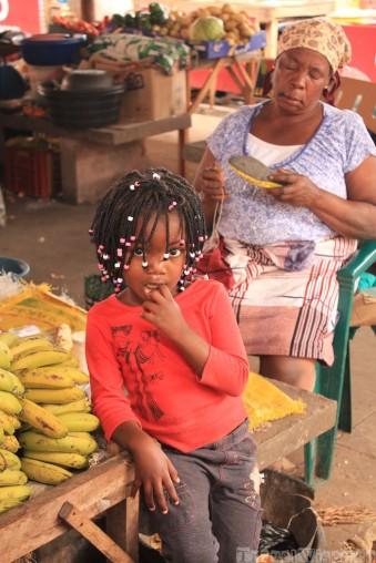 Mozambican Girl at Inhambane market