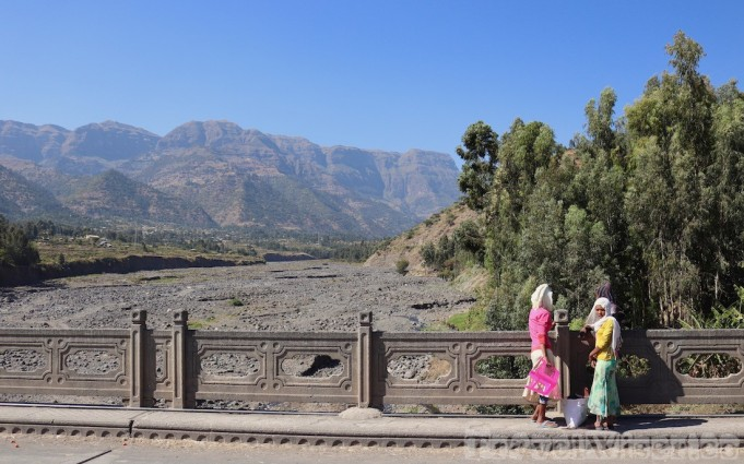 Girls on a bridge in Northern Ethiopia