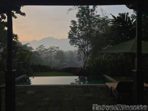 Sunrise at Plataran Hotel Borobudur Java