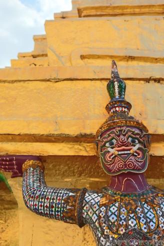 Hanuman figure, Wat Phra Kaew