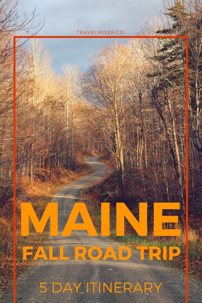 Maine USA fall road trip 5 day itinerary
