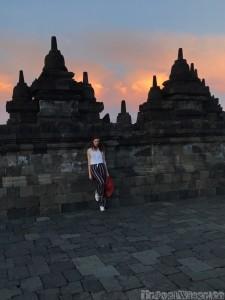 Borobudur temple wall